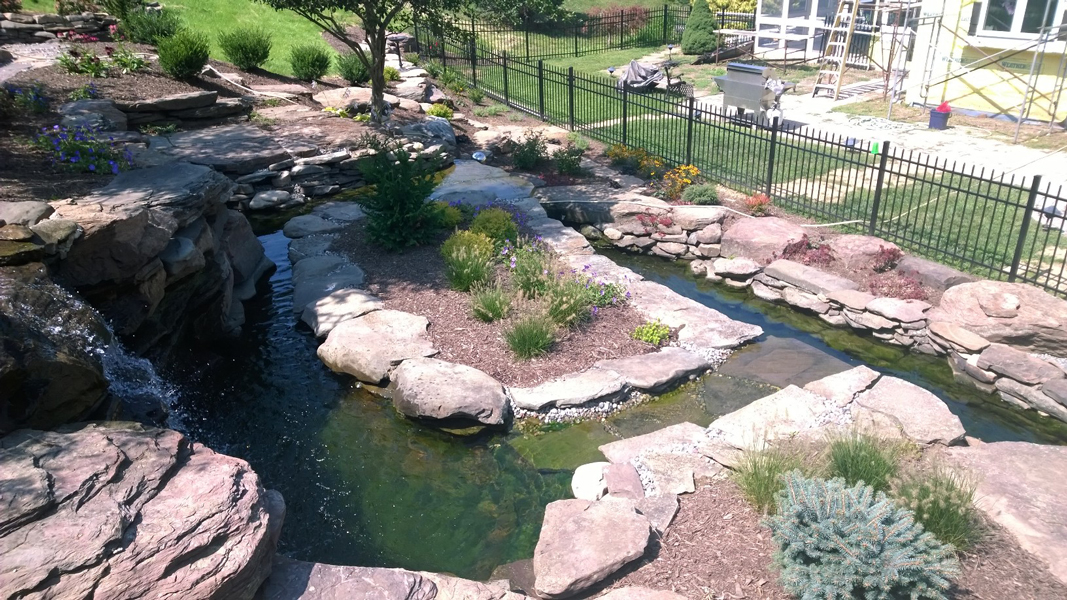 12,000 gal pond by 82 Rents, Chester Springs, PA www.82rentsandservices.com